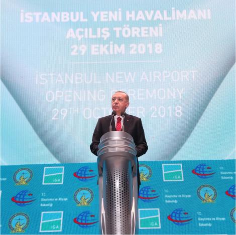 Image of Istanbul Airport opened by President Recep Tayyip Erdoğan