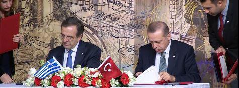 Image of Recep Tayyip Erdogan - Antonis Samaras