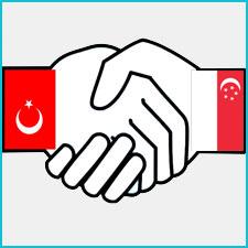 Image of Turkey and  Singapore Handshake