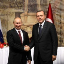 Recep Tayyip Erdoğan ve Vladimir Putin Görseli