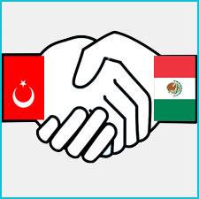 Meksika ile Türkiye El Sıkışma Görseli