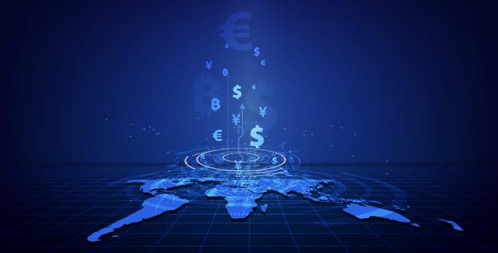 Dünya Haritası Üzerinde Para Birimlerinin Bulunduğu Görsel