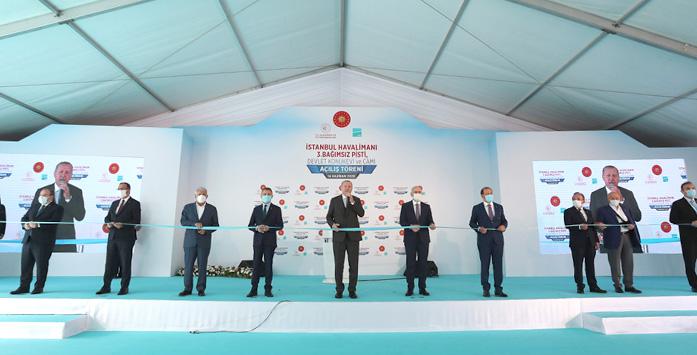 Cumhurbaşkanı Erdoğan'ın Havalimanı Açılışı Gerçekleştirilirken Çekilen Fotoğrafı