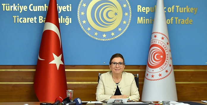 Photograph of Ruhsar Pekcan While Giving a Speech