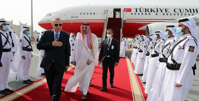 Image of President Recep Tayyip Erdogan & Emir Sheikh Tamim bin Hamad Al Thani of Qatar