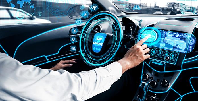 Image of Person Driving Digital Car