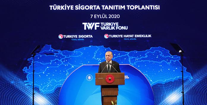Recep Tayyip Erdoğan'ın Türkiye Sigorta Tanıtım Toplantısında Çekilmiş Fotoğrafı