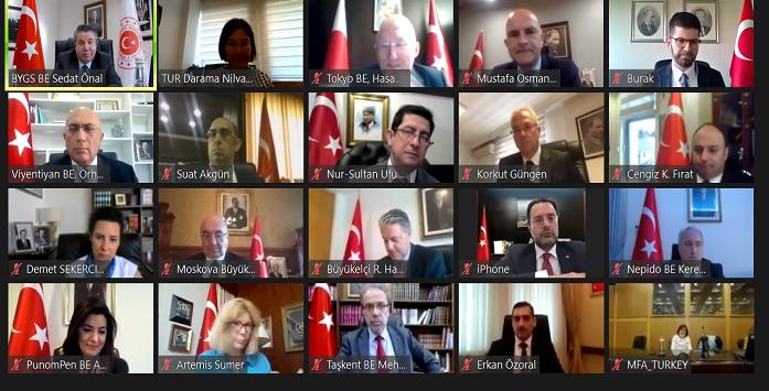Yatırım Ofisi'nin Asya Ülkelerinin Büyükelçileri ile Online Buluşmasından Görsel