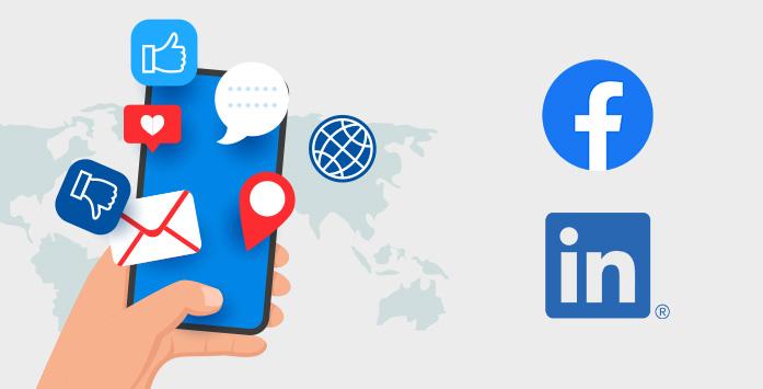 Facebook and Linkedin Logos