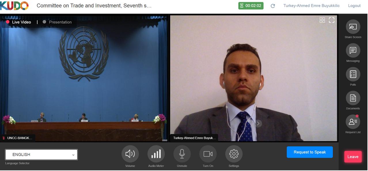 Yatırım Ofisi'nin Ticaret ve Yatırım Komitesine Katılımından Görsel