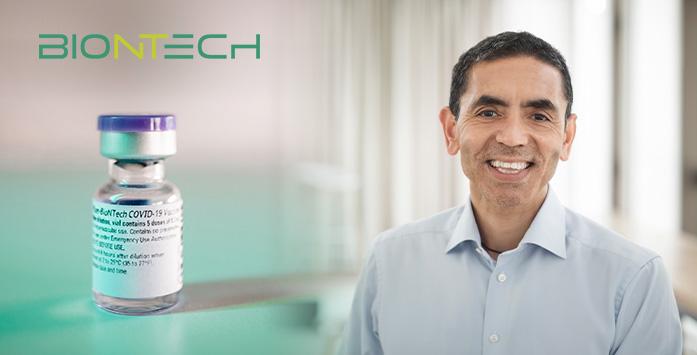 Uğur Şahin and BionTech Company Logo