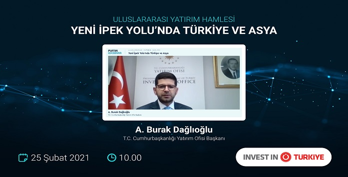 Image from Investment Office President Burak Dağlıoğlu at a Webinar