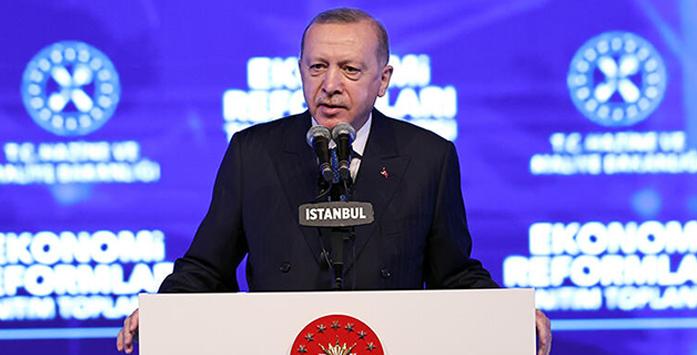Cumuhurbaşkanı Erdoğan'ın Konuşma Yaparken Çekilmiş Fotoğrafı