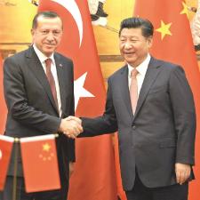 Recep Tayyip Erdoğan -  Şi Cinping El Sıkışma Görseli