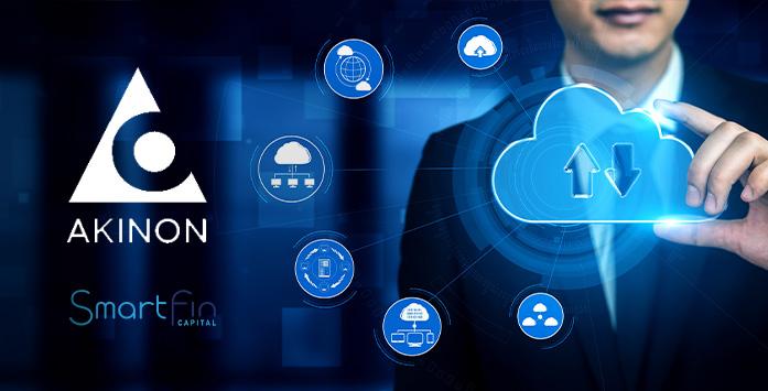 Businessman Image Holding Virtual Cloud