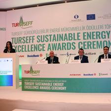 Photo of TurSeff Team Taking a Speech
