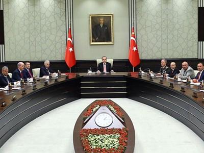Recep Tayyip Erdoğan'ın Bakanlar Kurulu ile Çekilmiş Fotoğrafı