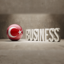 Business Yazılı Türkiye Bayrağı Görseli