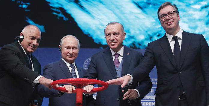Recep Tayyip Erdoğan, Vladimir Putin, Aleksandar Vučić ve Boyko Borisov Görseli